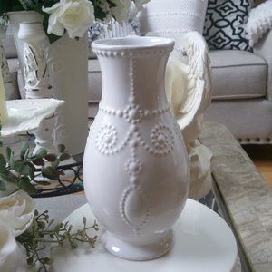 NEW! LENOX French PERLE White FLUTED Vase